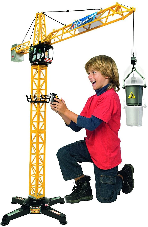 Dickie Toys 203462411 - Giant Crane, kabelgesteuerter Kran