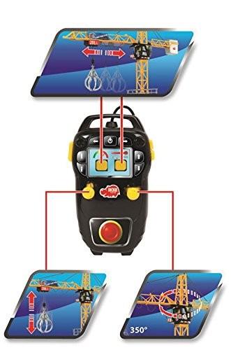 Dickie Spielzeug 203462412 - Mega Crane, Kabel-Fernsteuerung, links, rechts, ...