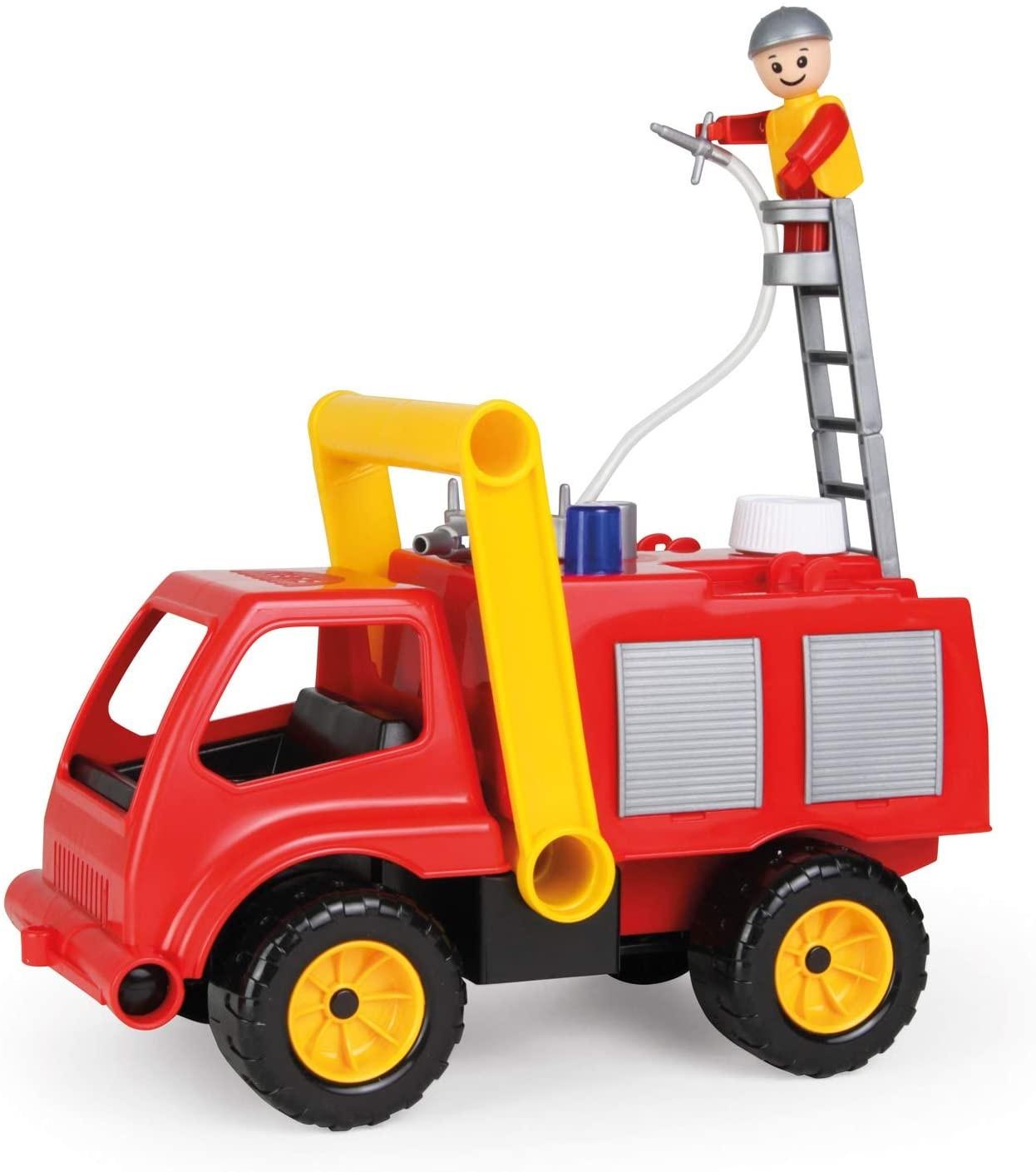 LENA 04155 - Aktive, Feuerwehr mit Spielfigur, Sandspielzeug