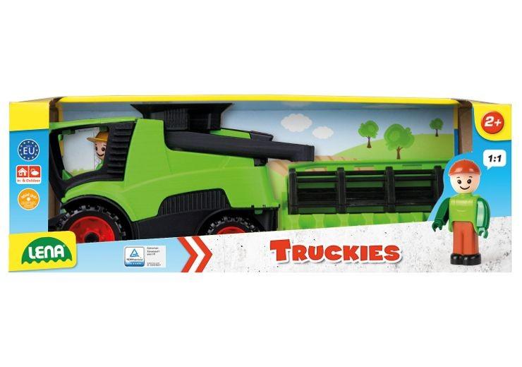 LENA 01626 - Truckies, Mähdrescher, mit Spielfigur, Indoor und Outdoor