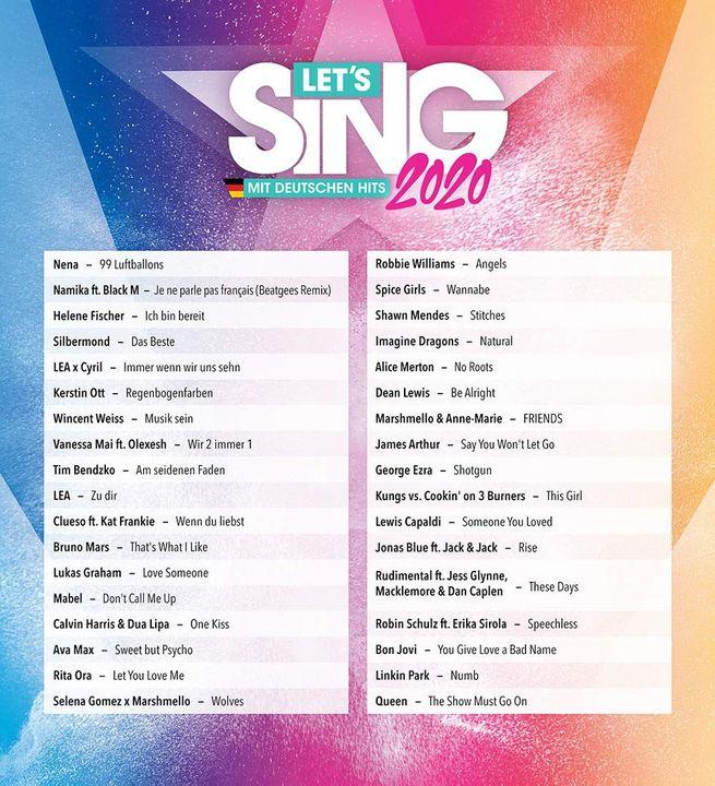 Let's Sing 2020 mit deutschen Hits [NSW] (D)