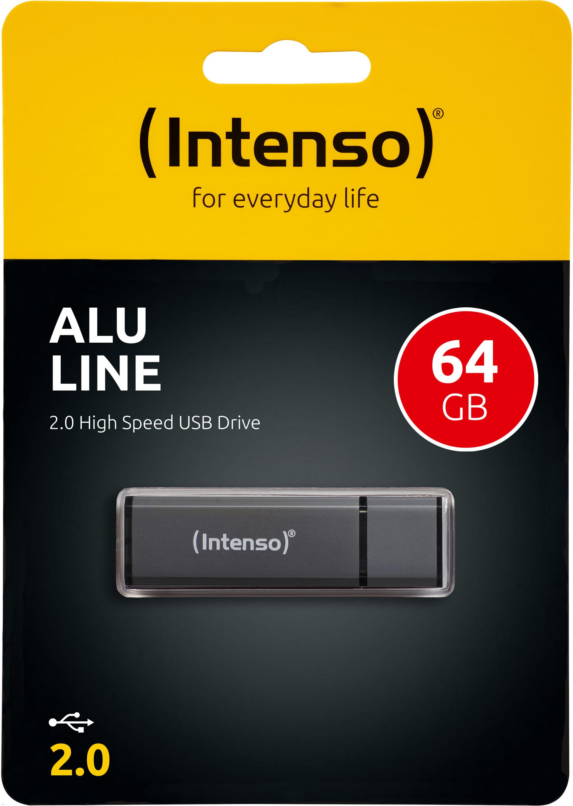 INTENSO USB Stick Alu Line 64GB 3521491 USB 2.0 antracite