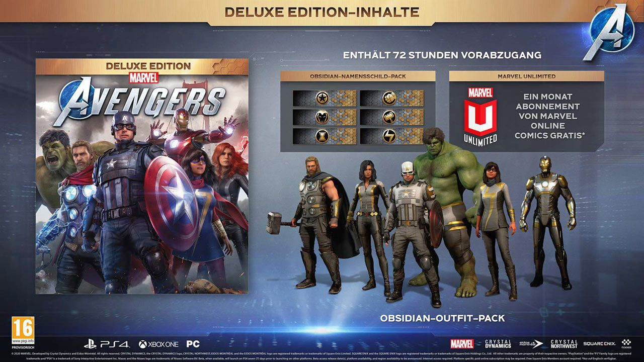 Marvel's Avengers - Deluxe Edition [PS4/Upgrade to PS5] (D)