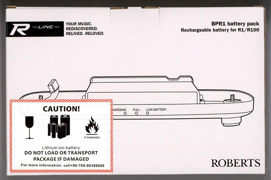 Roberts BPR1 R-Series Rechargable Battery Pack - black