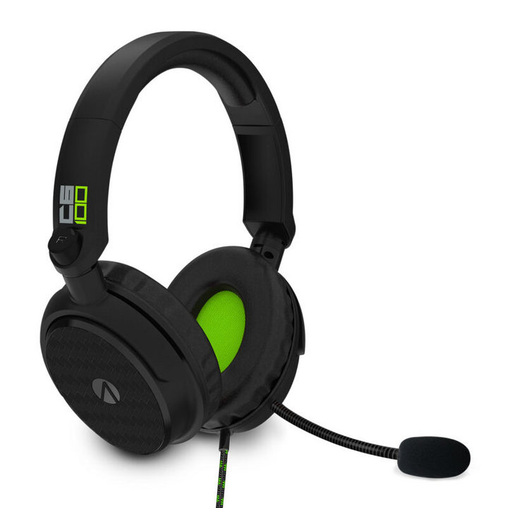 C6-100 Gaming Headset + Headset Stand: Carbon - green [XSX/PS5/PS4/NSW]