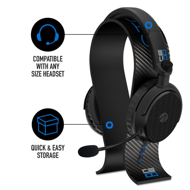 C6-100 Gaming Headset + Headset Stand: Carbon - blue [PS5/PS4/XSX/NSW/PC]