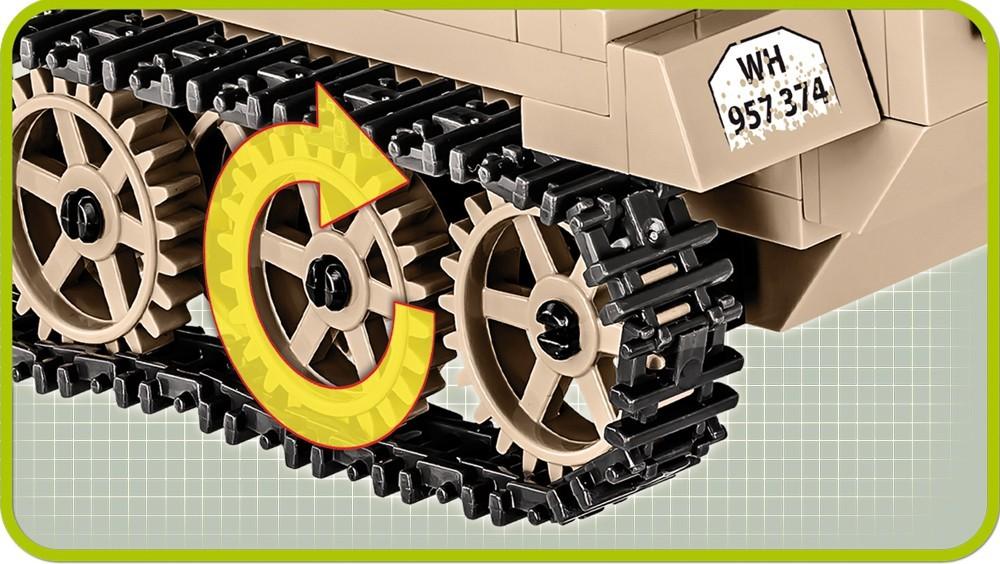 COBI Historical Collection 2526 - SD.KFZ.250/3, Panzer, Bausatz, 427 Teile