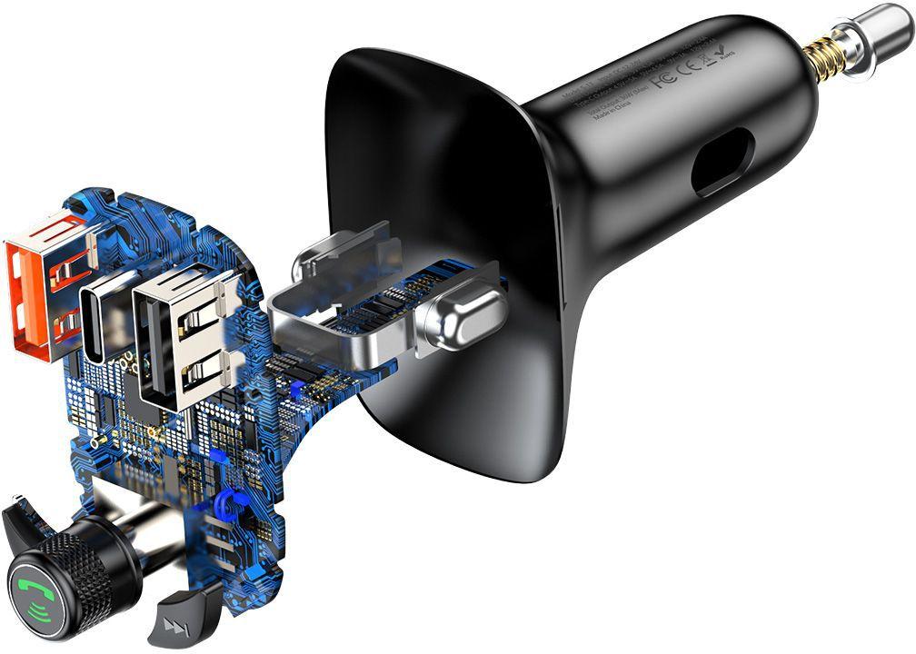 Baseus T-typed S-13 FM Transmitter - black