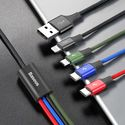 Baseus 4in1 Cable Lightning/2xTypeC/Micro [3.5A] - black
