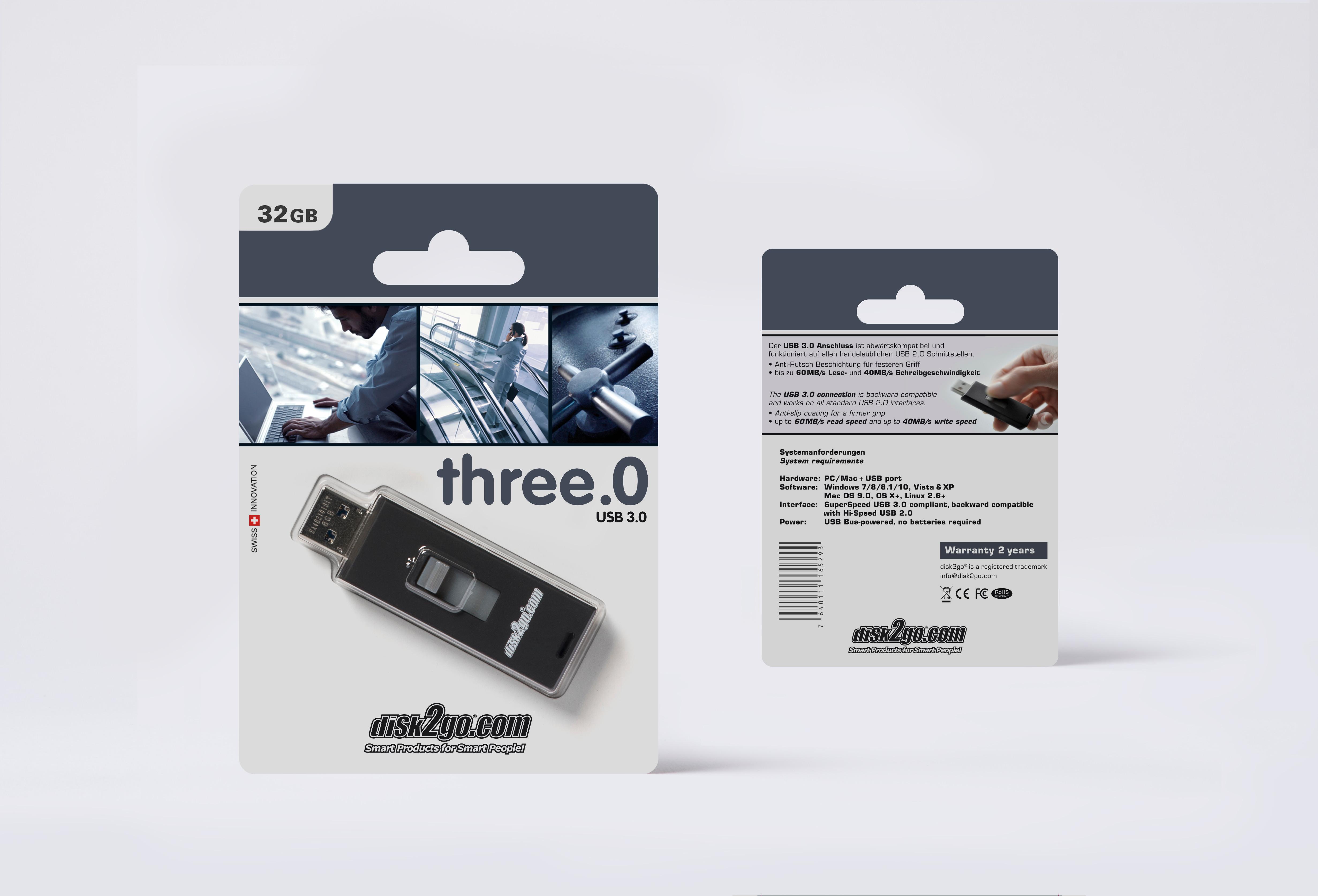 DISK2GO USB-Stick three.O 32GB 30006463 USB 3.0