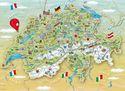 Schweiz - Illustrierte Karte der Schweiz