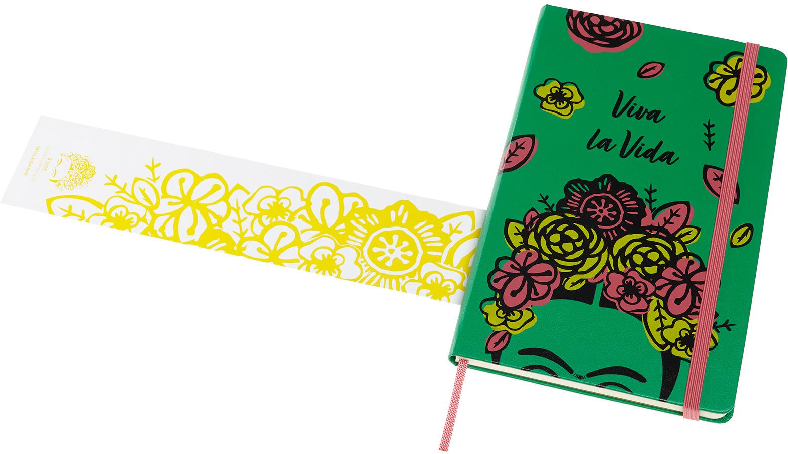 Moleskine Notizbuch - Frida Kahlo, Large/A5, Liniert, Fester Einband, Grün