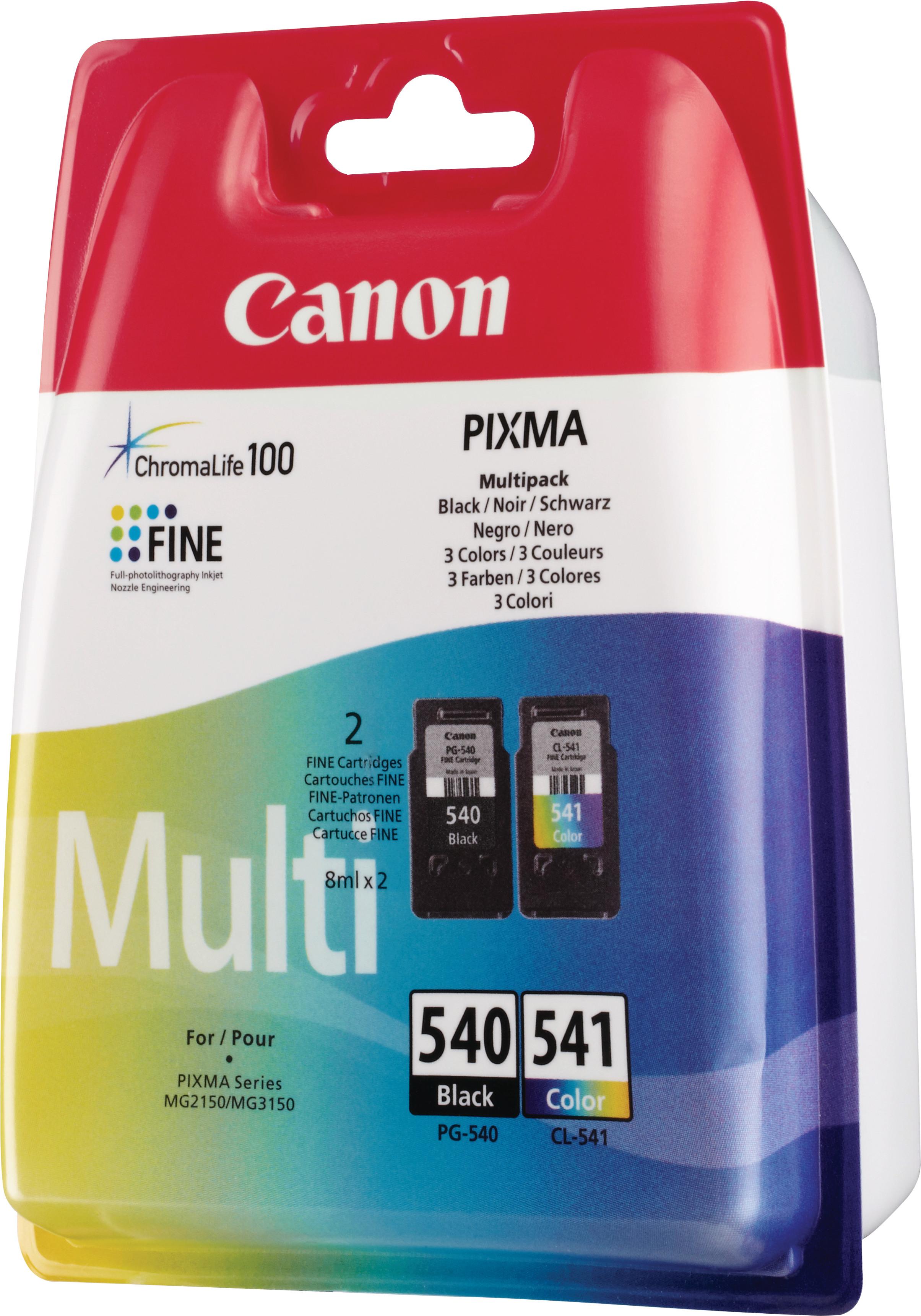 CANON Multipack encre noir/color PGCL540/1 PIXMA MG2150 2x8ml