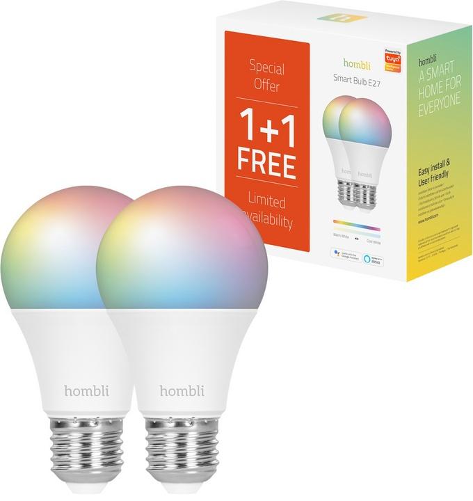 Hombli Smart Bulb E27 (9W) RGB + CCT - Promo Pack 1+1 Free