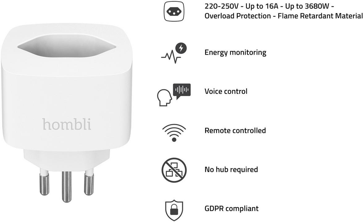 Hombli Smart Swiss Socket Promo Pack 2+1