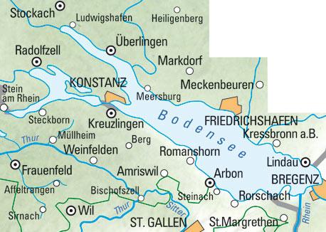 Bodensee-Thurgau Nr. 02 Wanderkarte 1:60 000