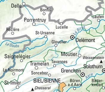 Jura Franches-Montagnes Ajoie Nr. 03 Wanderkarte 1:60 000