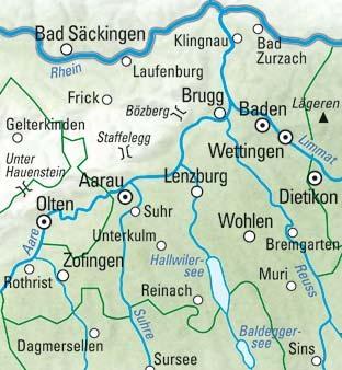 Aargau - Fricktal - Hallwilersee Nr. 11 Wanderkarte 1:60 000