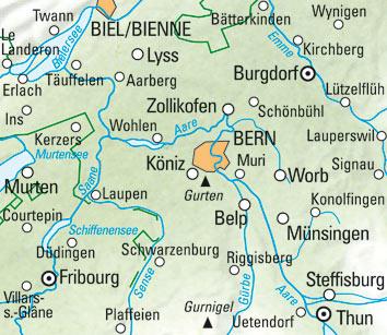 Region Bern Nr. 09 Wanderkarte 1:60 000