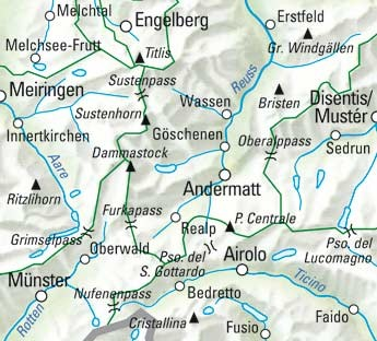 Gotthard Nr. 19 Wanderkarte 1:60 000